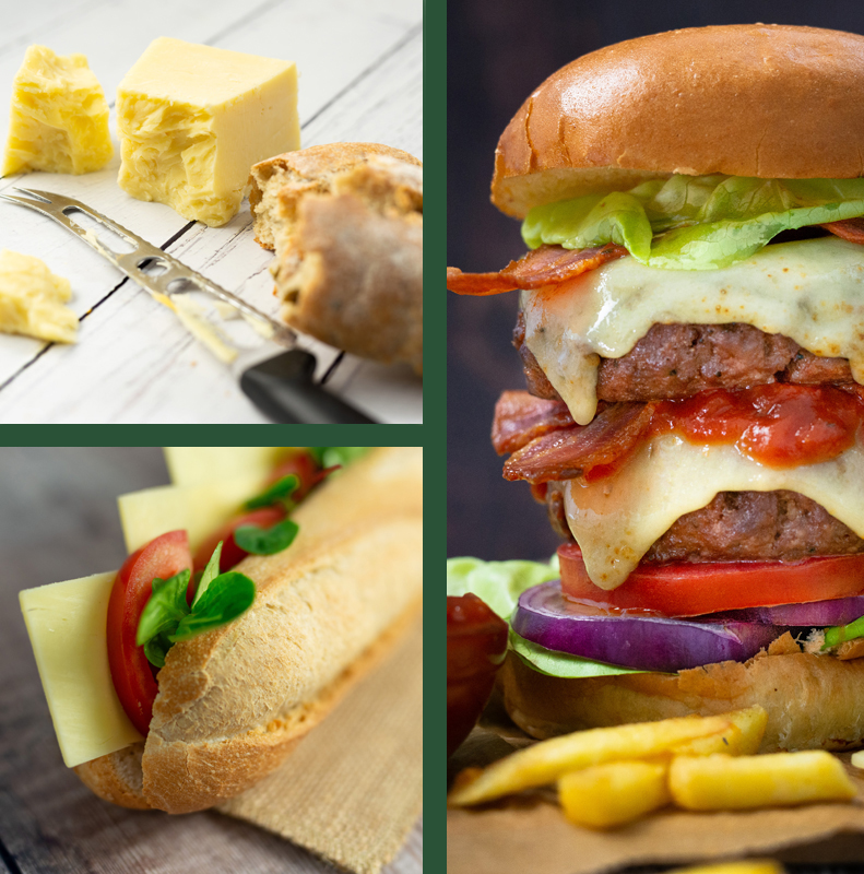 Collage of Spinneyfields Cheese Slices pics